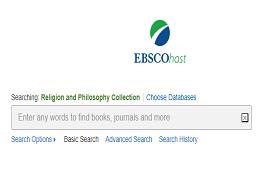 Ebsco religion and philosophy collection search box
