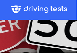 Street signs collage captioned driving tests