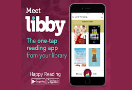 Meet Libby the one tap reading app from your library.  Happy Reading