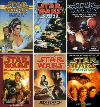 Star Wars novels jackets